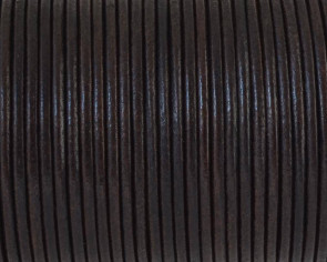 Round leather Cord. 2mm. Dark brown. Best Quality.