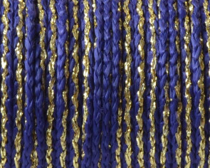 Cord. Polipropylene. Braided. 3.8mm. Blue-gold. Best Quality.