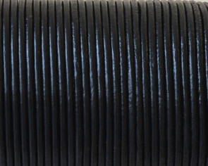 Round Leather Cord. 1.5mm. Black. Best Quality.