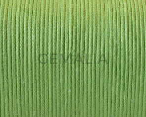 Waxed Cotton Cord. 1mm. Green. 100m. Best Quality