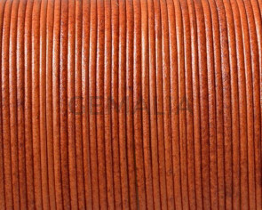 Kangaroo leather cord 1mm Round. Orange. Best Quality.