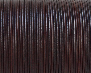 Kangaroo leather cord 1mm Round. Brown. Best Quality.