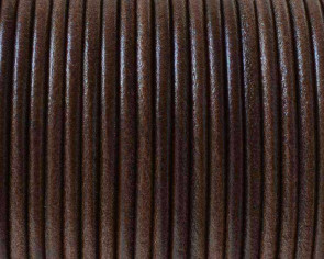 Round Leather cord 2.5mm. Grey. Best Quality.
