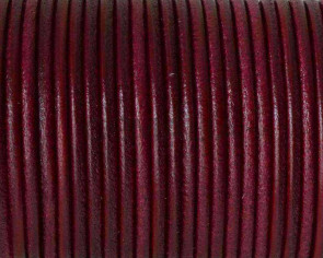 Round Leather cord 2.5mm. Fuchsia. Best Quality.
