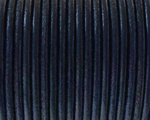Round Leather cord 2.5mm. Electric Blue. Best Quality.