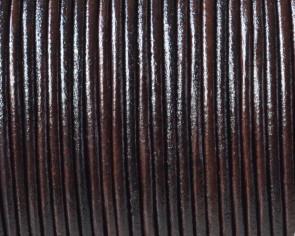 Kangaroo leather cord Round 1.6mm. Dark Brown. Best Quality.