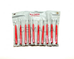 Wax Carving Tools. With Red Insulated.