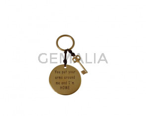 KEY RING leather cord-zamak