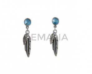 EARRINGS Swarovski-feather