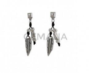 EARRINGS Feather zamak