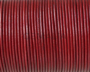 Kangaroo leather cord 1.6mm round. Dark red. Best Quality