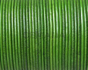 Kangaroo leather cord 1.6mm round. Green. Best Quality