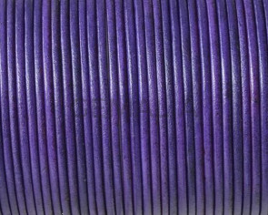 Kangaroo leather cord 1.6mm round. Violet. Best Quality