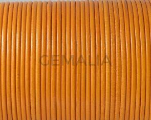 Kangaroo leather cord 1.6mm round. Mustard. Best Quality