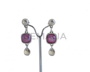 EARRINGS  Zamak - Swarovski