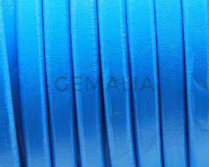 REGALIZ Leather cord. Oval 10x6mm. Blue. Best Quality