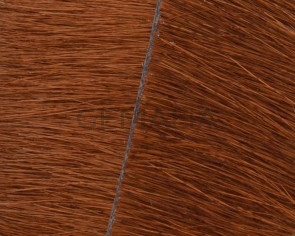 Colored cow hair Flat leather cord. 20mm. brown. Best Quality.