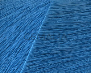 Colored cow hair Flat leather cord. 20mm. turq. Best Quality.