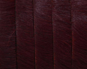 Colored cow hair Flat leather cord. 10mmgar.-dark.Best Quality.