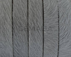 Colored cow hair Flat leather cord. 10mm. l. Grey. Best Quality.