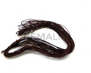 Elastic cord. 1mm. brown