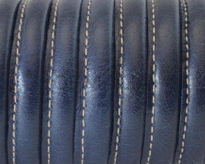 Round Leather cord. 7mm. Dark Blue. Best Quality.