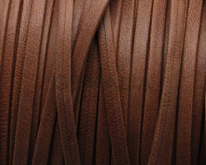 Flat Leather cord. 3x1mm. Camel mat.  Best Quality.