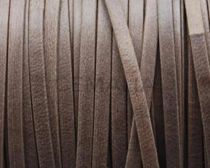 Flat Leather cord. 3x1mm. Dark brown mat. Best Quality.