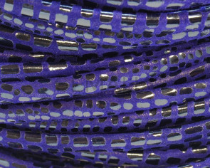 Cancun Suede Leather Cord. 8x5mm. Violet.