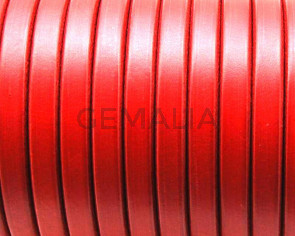 REGALIZ Leather cord. Oval 10x6mm. Red 2. Best Quality.