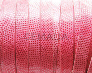 Suede Leather cord. Luxus. Flat. 13x2mm. Coral color. Best Quality.
