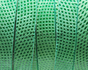 Suede Leather cord. Luxus. Flat. 13x2mm. Green. Best Quality.