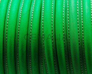 Half Round Leather cord. 10mm. Fluorescent green. Best Quality.