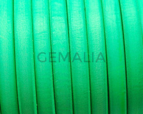 REGALIZ Leather cord. Oval 10x6mm. Fluorescent green. Best qual.