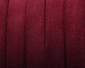 Suede Leather cord. Flat. 10x1.2mm. Garnet. Best Quality.