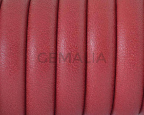 Half Round Leather cord. 10x5mm. Dark red. Best Quality.