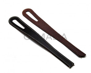 Leather Bracelet. 40cm.Dark brown.Oval hole 51mm.Best Quality.