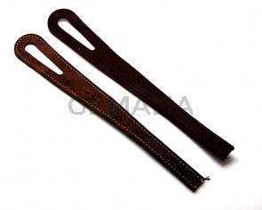 Leather Bracelet. 40cm. Brown. Oval hote 51mm. Best Quality.