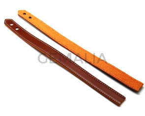 Leather Bracelet. 15x470mm. Brown. Inn.6mm. Best Quality.