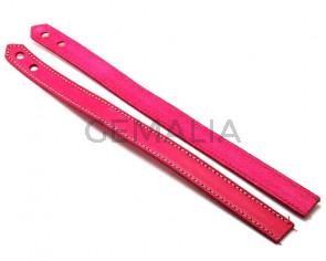 Leather Bracelet. 15x470mm. Fuchsia. Inn.6mm. Best Quality.