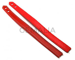 Leather Bracelet. 15x470mm. Red. Inn.6mm. Best Quality.