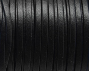 Flat Leather cord. 3mm. Black. Best Quality.