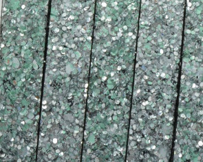 Synthetic Strand. Flat. 10x2mm. Silver-green. Best Quality.