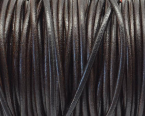 Round Leather cord. 3mm. Brown. Best Quality.