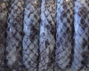 Imitation Snake skin. Synthetic cord. 10x5mm. Lilac. Best Quality.
