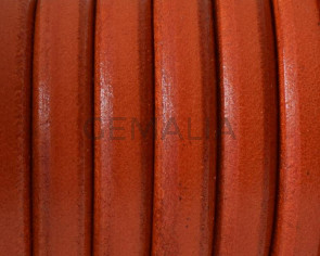REGALIZ Leather cord. Oval 10x6mm. Orange. Best Quality.