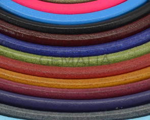 REGALIZ Leather cord. Oval 10x6mm. MIX2. Best Quality.