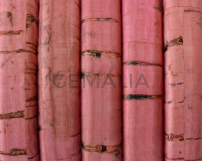 REGALIZ Cork cord. Oval 10x6mm. Pink-t. Best Quality.