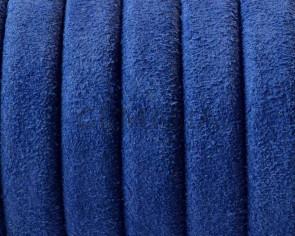REGALIZ leather cord. Oval 10x6mm. Blue. Best Quality.