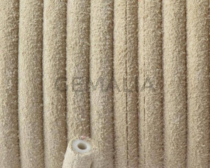 Round Leather cord. 5mm. Beige. Hollow. Inn.1.5mm.approx. Best Quality.